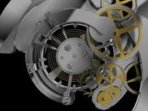Het mechanisme van het uurwerk stock illustratie