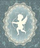 Het medaillon van de Cupido stock illustratie