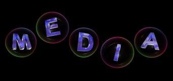 Het media woord in bel vector illustratie