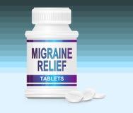 Het medicijn van de migraine. Stock Foto