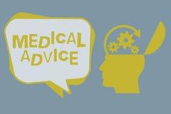 Het Medische advies van de handschrifttekst Het concept die Begeleiding van een gezondheidszorgdeskundige betekenen over aantonen vector illustratie