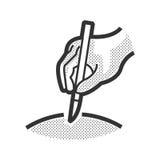 Het medische Geduldige pictogram, stelt pictogram in werking Stock Fotografie