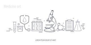 Het medische hand-drawn ontwerp van de wetenschapschemie Royalty-vrije Stock Foto