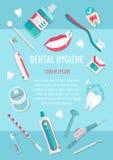Het medische infographic pamflet van de tandenhygiëne Stock Foto