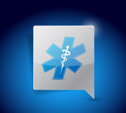 het medische ontwerp van de het tekenillustratie van het symboolbericht Stock Afbeeldingen