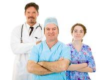 Het Medische Personeel van het sympathieke Ziekenhuis Stock Foto's
