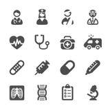 Het medische pictogram plaatste 4, vectoreps10 Royalty-vrije Stock Afbeeldingen