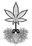 Het medische symbool van het marihuanablad  stock afbeeldingen