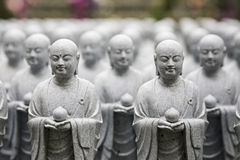 Het mediteren Buddhas Stock Afbeelding