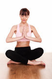 Het mediteren in de Positie van Lotus Royalty-vrije Stock Foto