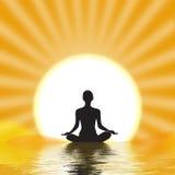 Het mediteren van de yogi Stock Foto's