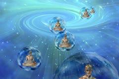 Het mediteren van droids vector illustratie