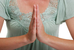 Het mediteren van handen Royalty-vrije Stock Afbeelding