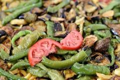 Het mediterrane groenten koken stock afbeelding