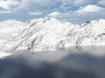 Het meer 3d scène van de berg Royalty-vrije Stock Afbeelding