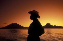 HET MEER ATITLAN VAN LATIJNS AMERIKA GUATEMALA Stock Afbeeldingen