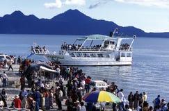 HET MEER ATITLAN VAN LATIJNS AMERIKA GUATEMALA royalty-vrije stock afbeelding