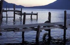 HET MEER ATITLAN VAN LATIJNS AMERIKA GUATEMALA Stock Fotografie