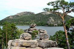 Het meer Borovoe, verklaart Nationaal Natuurreservaat Stock Foto's