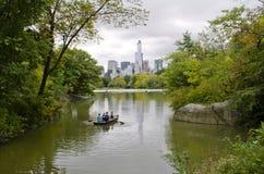 Het Meer in Central Park stock foto