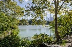 Het Meer in Central Park stock foto's
