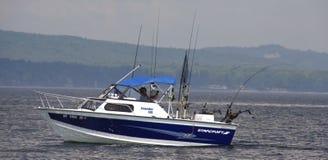 Het Meer Champlain van de Visserij van de sport royalty-vrije stock foto's