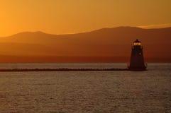Het Meer Champlain van de zonsondergang Royalty-vrije Stock Fotografie