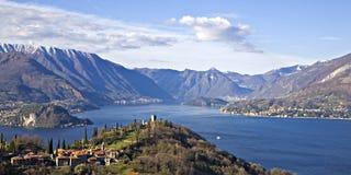 Het meer Como van het panorama Stock Fotografie