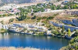 Het meer in de Krim Stock Foto