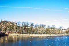 Het meer Den Haag van Binnenhof Royalty-vrije Stock Foto