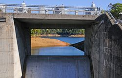 Het Meer en de Dam van Fontana Royalty-vrije Stock Foto's