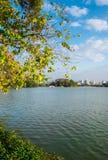 Het meer en de hemel royalty-vrije stock afbeelding