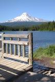 Het meer en Mt. Kap, Oregon van Trillium. Royalty-vrije Stock Fotografie