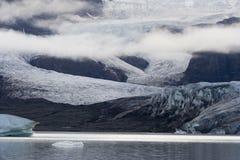 Het meer IJsland van de gletsjer Stock Fotografie