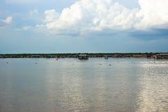 Het Meer Kambodja van het Sap van Tonle Stock Afbeelding