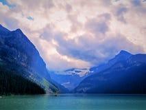 Het meer louise stock foto