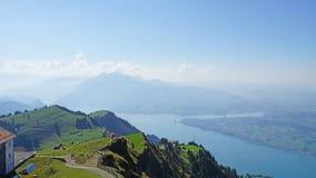 Het Meer Luzerne van het Onderstel Rigi royalty-vrije stock afbeeldingen