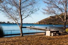 Het meer Murray bij Opdracht sleept Regionaal Park in San Diego stock fotografie