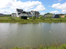 Het meer op het recreatiecentrum Stock Afbeelding