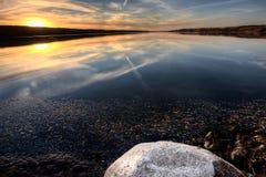 Het Meer Saskatchewan van het Pond van buffels Stock Fotografie