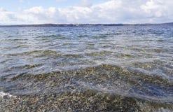 Het meer Starnberger ziet in Beieren royalty-vrije stock foto's