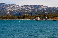 Het Meer Tahoe van het zuiden in de winter Royalty-vrije Stock Foto