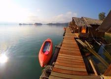 Het meer Thailand van Khaosok national park Royalty-vrije Stock Foto's