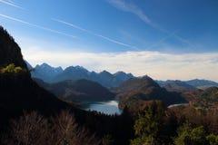 Het Meer van Alpen in Duitsland stock afbeeldingen