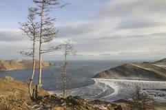 Het meer van Baikal in de winter Royalty-vrije Stock Fotografie