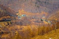 Het meer van Baikal, die de stad van Kultuk, Rusland overzien Royalty-vrije Stock Fotografie