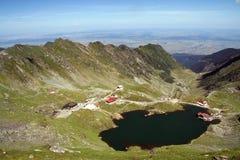 Het meer van Balea in Fagaras Royalty-vrije Stock Foto's