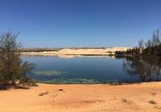 Het meer van Bautrang in Binh Thuan, Vietnam Royalty-vrije Stock Foto