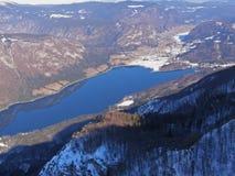 Het Meer van Bohinj in Slovenië royalty-vrije stock foto's