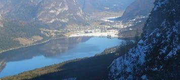 Het Meer van Bohinj in Slovenië, panorama Royalty-vrije Stock Afbeeldingen